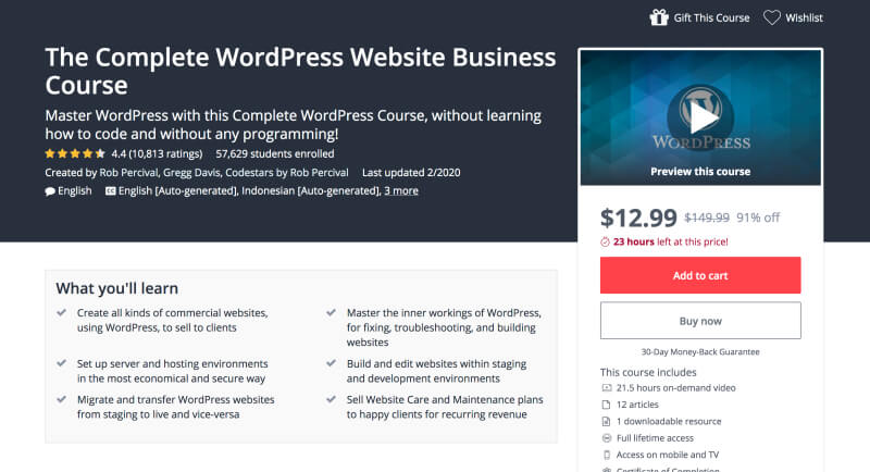 The Complete WordPress Website Business Course - Learn web development and web design for beginners online