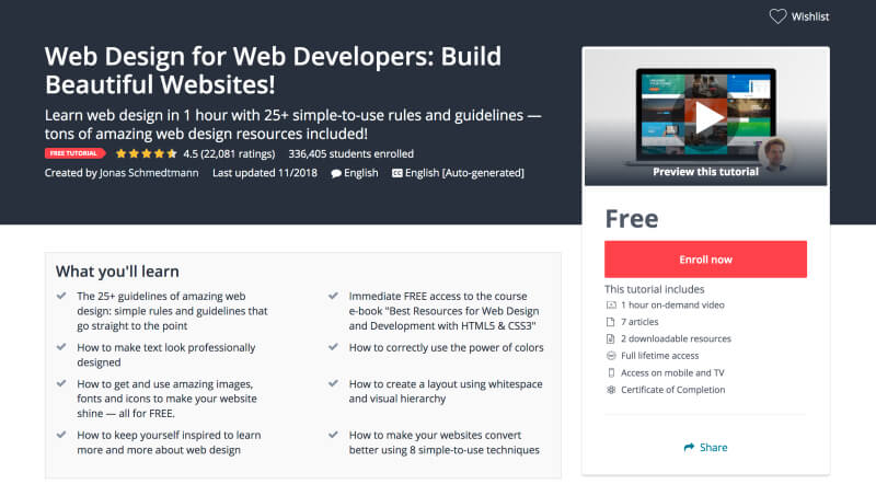 Web Design for Web Developers - Build Beautiful Websites