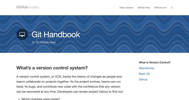 Git Handbook - Learn Git and GitHub for version control for free
