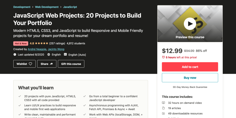 JavaScript Web Projects - 20 Projects to Build Your Portfolio