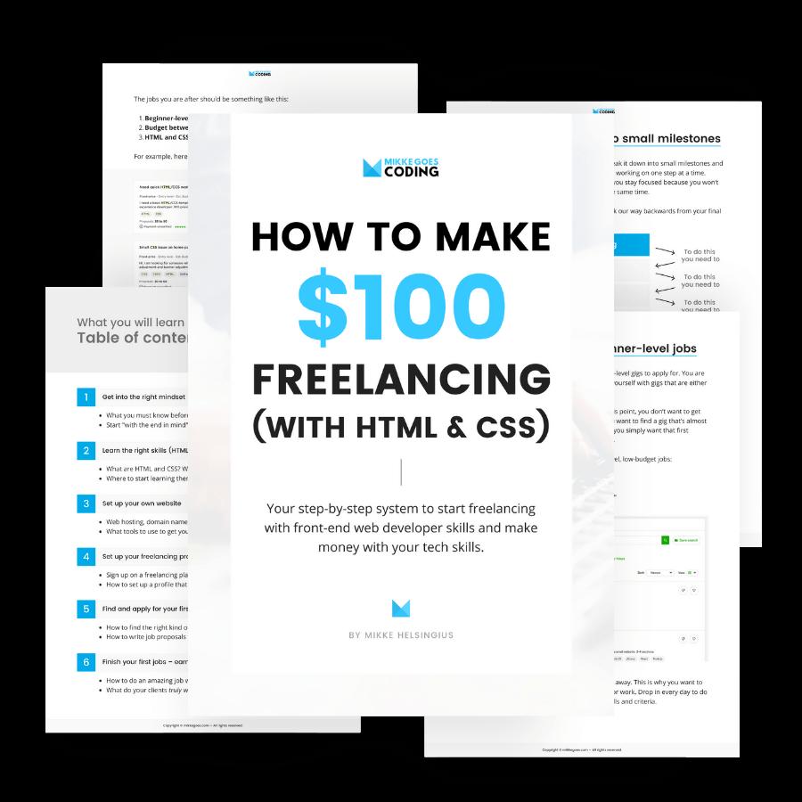 Freelance web developer guie – Make money from coding by freelancing online 04