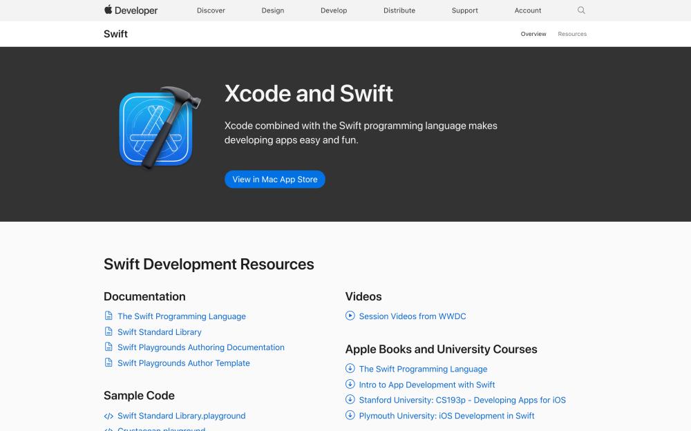 Apple Developer Swift Development Resources