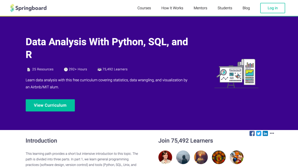 Data Analysis With Python SQL and R - Free data science course on Springboard