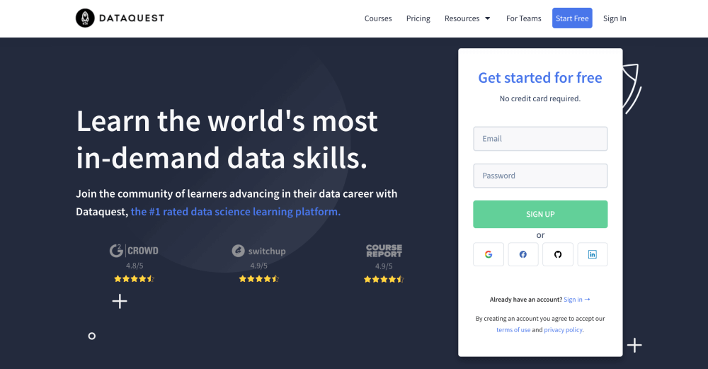 Dataquest - Learn data science and data analysis online