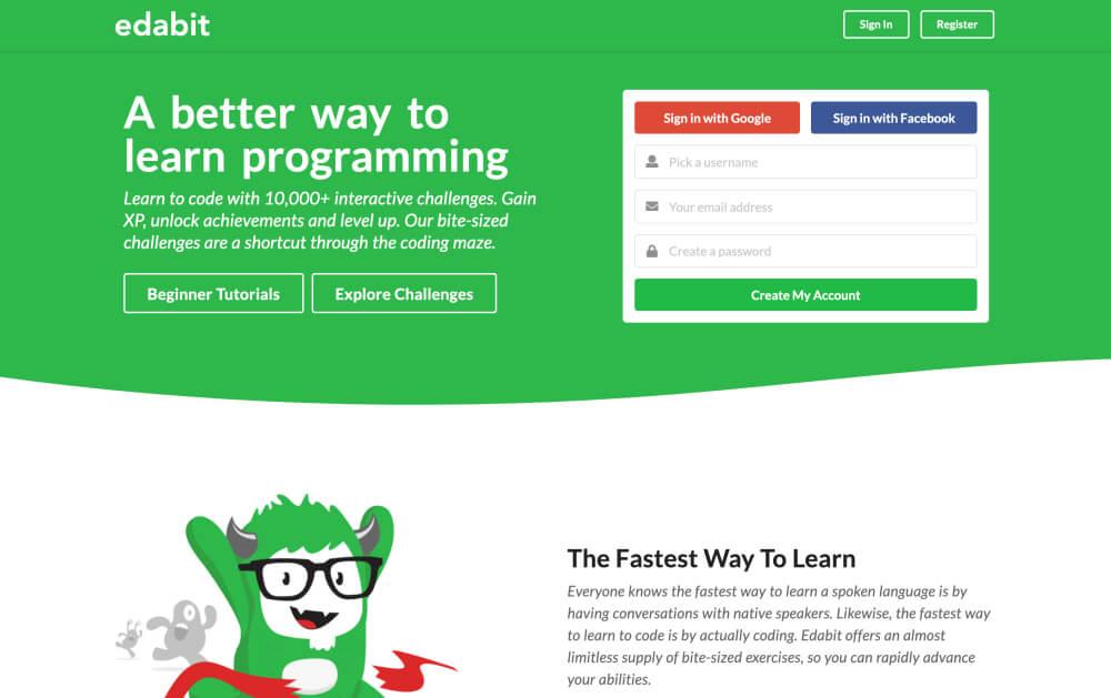 Edabit - Learn programming online