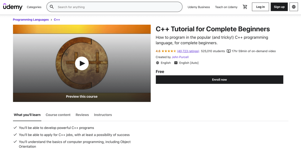 Free C++ Tutorial for Complete Beginners
