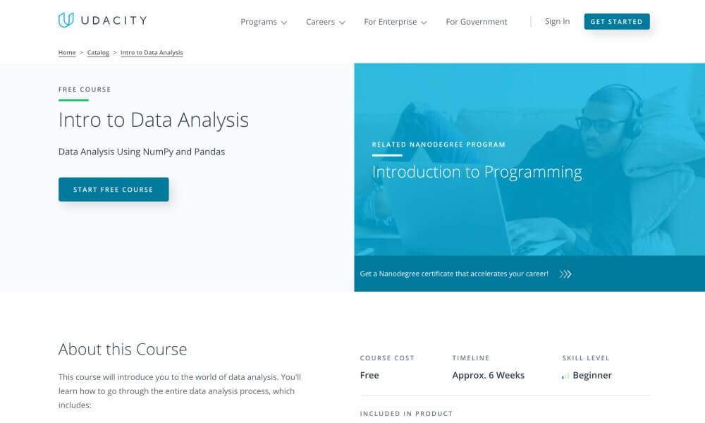 Intro to Data Analysis - Free programming course on Udacity