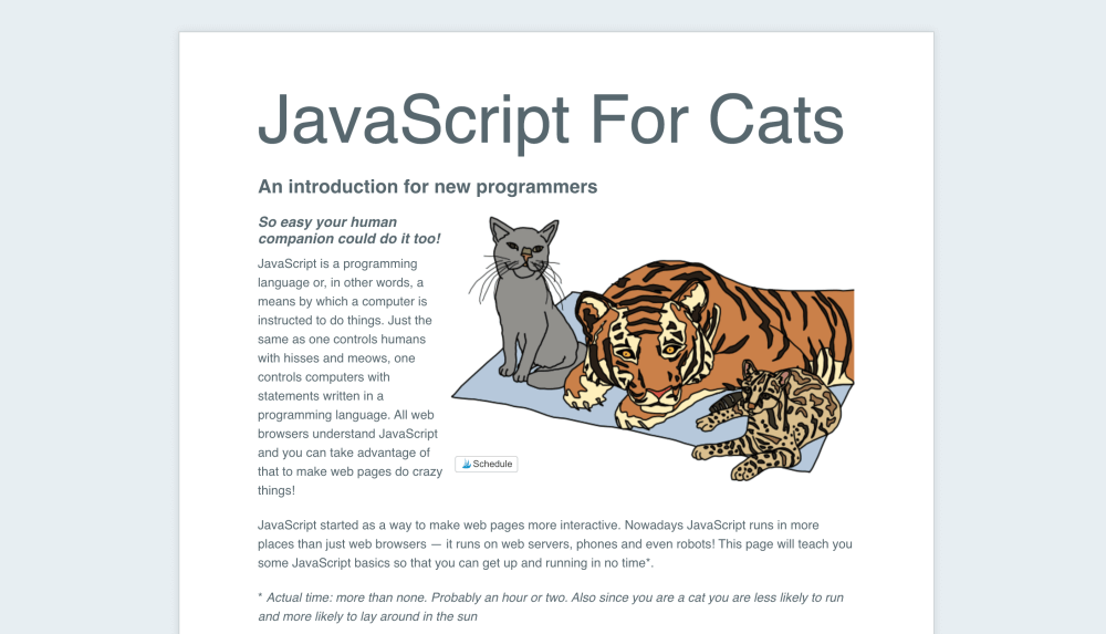 JavaScript For Cats - Learn JavaScript for free