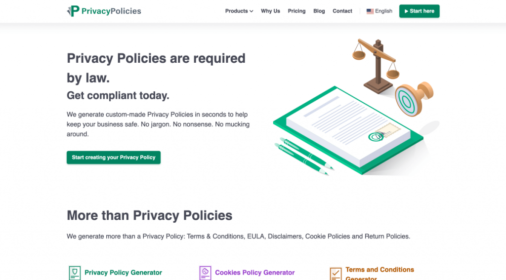 PrivacyPolicies – Free legal page templates