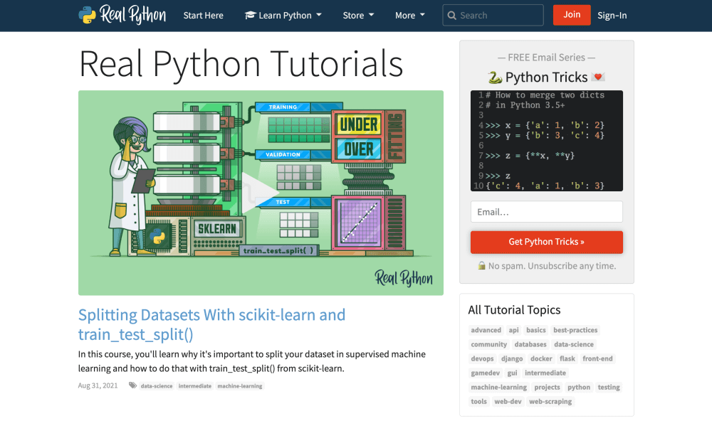 Real Python Tutorials: Learn Python programming for free