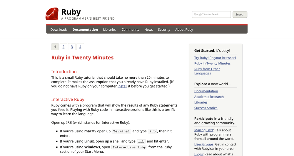 Ruby in Twenty Minutes - Free Ruby coding tutorial for beginners