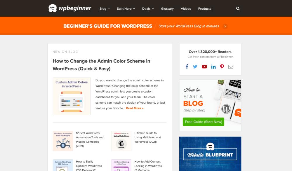 WPBeginner - Free WordPress tutorials and resources